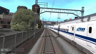 鉄道模型シミュレーター 新幹線・車両基地へ回送 前面展望