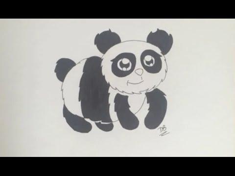 Comment dessiner un panda facile tape par tape - Dessins de panda ...