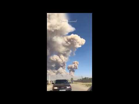 Terrible explosions of ammunition in warehouses in Kazakhstan Arys. People run from the city!
