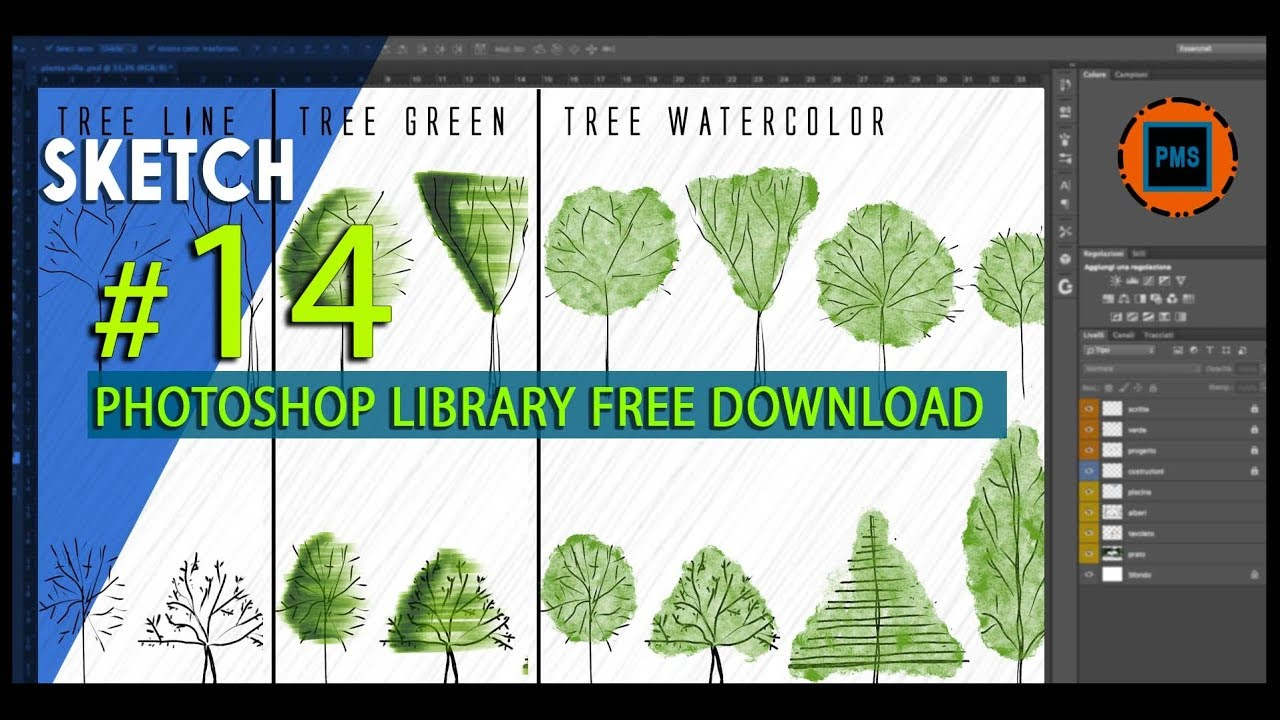 TREE LIBRARY PHOTOSHOP TUTORIAL | FREE DOWNLOAD