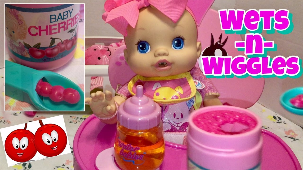 Baby Alive Wets N Wiggles New Cherry 🍒doll Food Jar