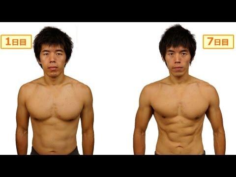 一週間で7キロの減量してみた!