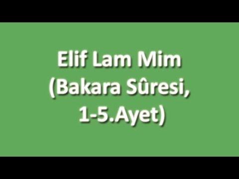 Elif Lam Mim Arapça ve Türkçe Oku Dinle İzle - www.oku.gen.tr