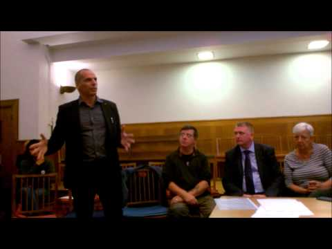 Yanis Varoufakis Addresses National Gallery Strikers
