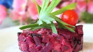 Мясной салат АКЦЕНТ со свеклой  Рецепт салата