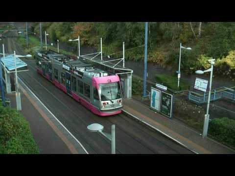 Midland Metro T69s Trams in the  Winter of 2012