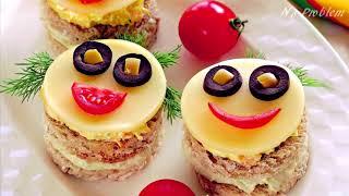 50+ идей бутербродов для детского праздничного стола