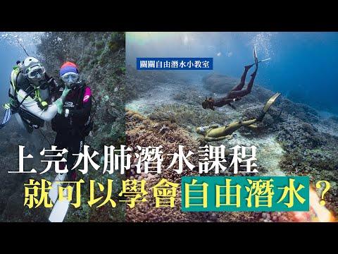 自潛新手必看|上完水肺潛水課程就可以學會自由潛水?自由潛水與水肺潛水的差異