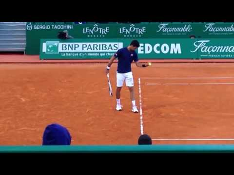 Novak Djokovic wins 3rd set 6-4 vs Pablo Carrena Busta HD 2017 Monte Carlo Rolex Masters (Video 1)