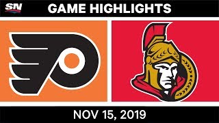 NHL Highlights | Flyers vs. Senators - Nov. 15, 2019