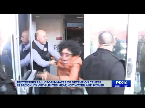 Protesters pushed back at NYC federal jail where power out Mp3