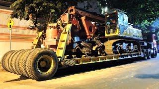 Volvo F10 Nissan UD Trucks Loading Drilling Rig Sany SR150C