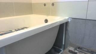установка акриловой ванны на уголок и силикон(ванна ставиться на уголок потом силикониться., 2015-06-14T15:44:15.000Z)