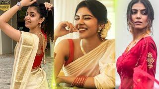 Onam Celebration of Celebrities| Kalyani Priyadarshan | Iswarya Menon | Anikha | Nadhiya