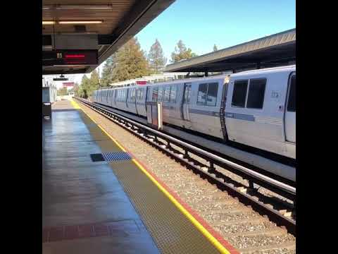 The new 10 car Fremont new Bart train.