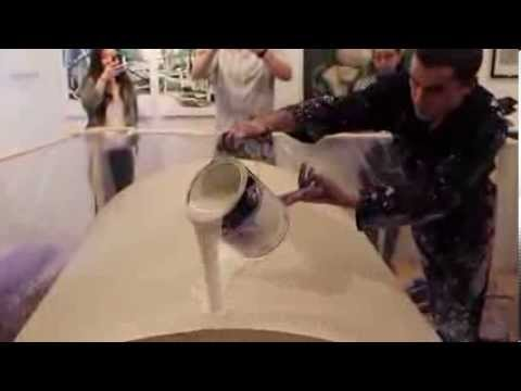 SPIN PAINTING VIDEO! Callen Schaub Preforming live at Project Gallery Toronto