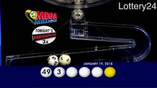 2018 01 19 Mega Millions Numbers and draw results
