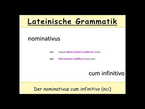 Der NcI im Lateinischen (nominativus cum infinitivo)
