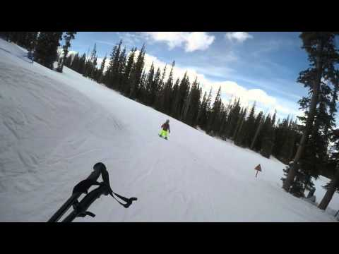 Ryan skiing in Jack Rabbit Alley and kids adventure zone