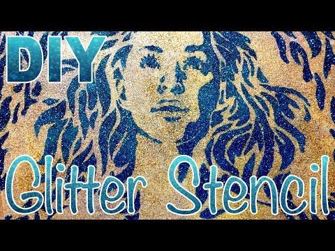 DIY Glitter Stencil Tutorial