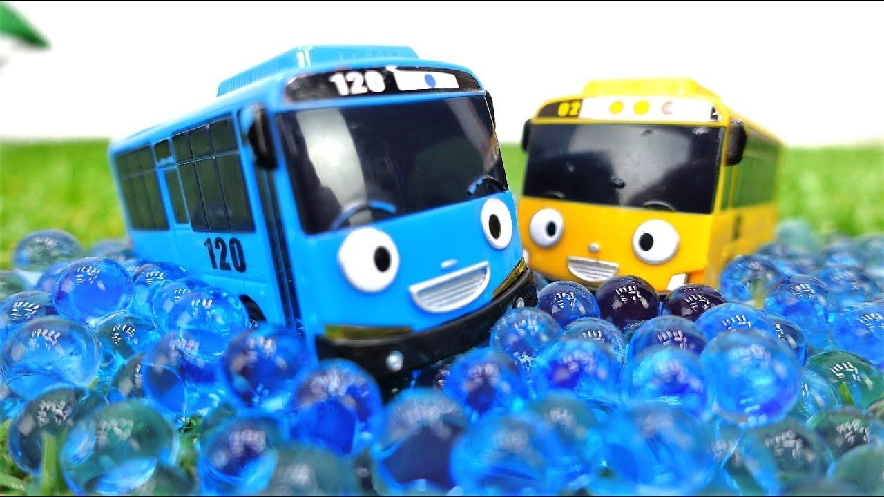 Tayo toys & Robocar Poli cars videos for kids – Toy car videos.