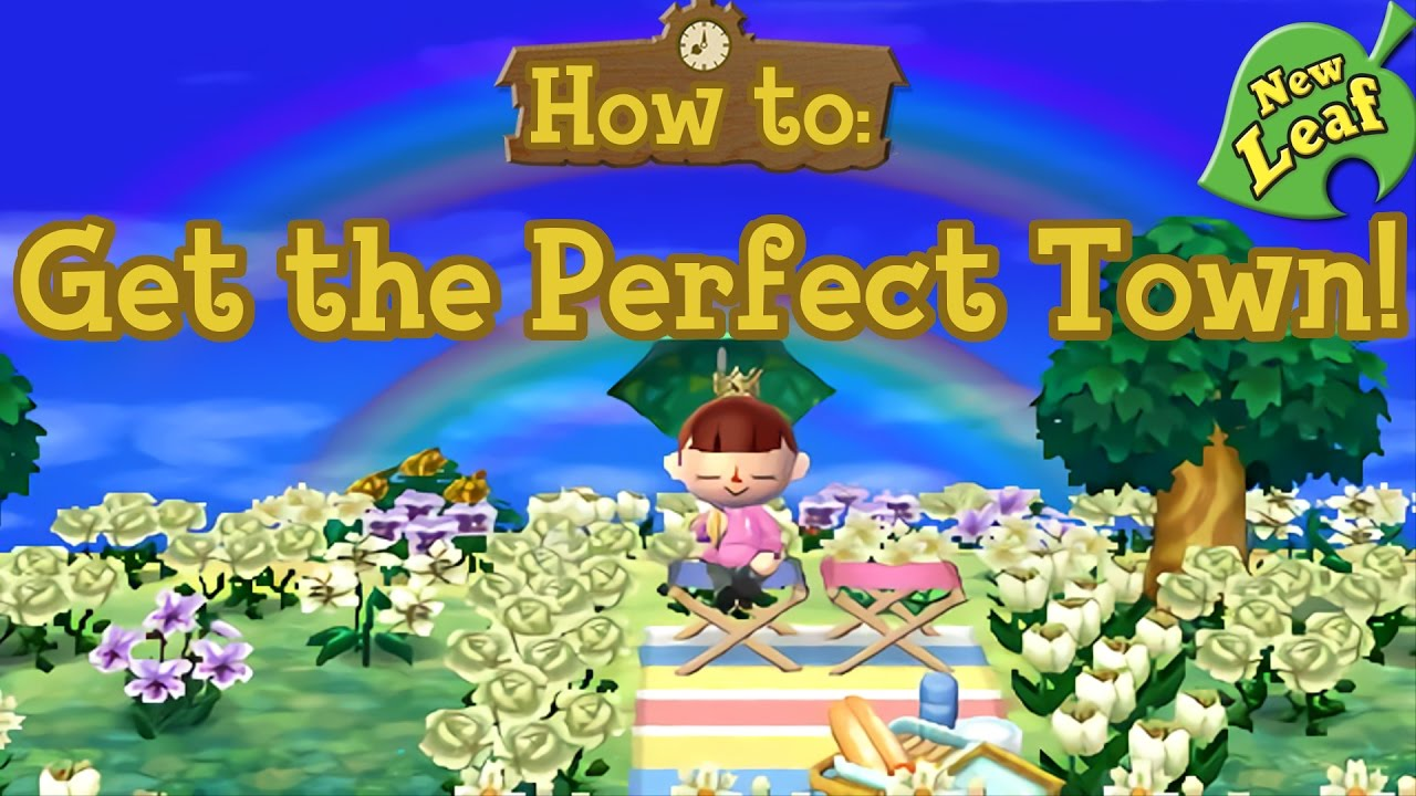 How To Get The Perfect Town Remastered Acnl Youtube
