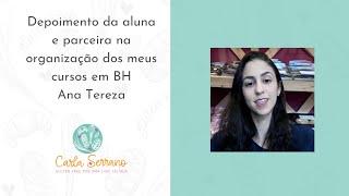 Depoimento da aluna Ana Tereza sócia-proprietária da Padaria Seleve em BH e Brasília