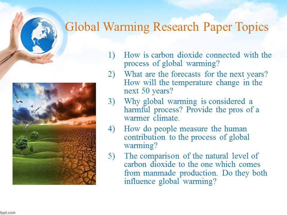 Global warming term papers