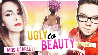 The Sims 4 Ugly To Beauty  MRS.SCARLETT vs KRISGAMES  Wyzwanie CAS