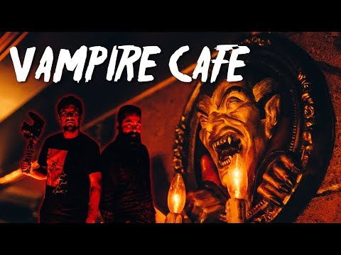 Summoning Dark Creatures At Tokyo's VAMPIRE CAFE! | Ginza, Tokyo