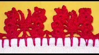 Barrado em crochê borboletas
