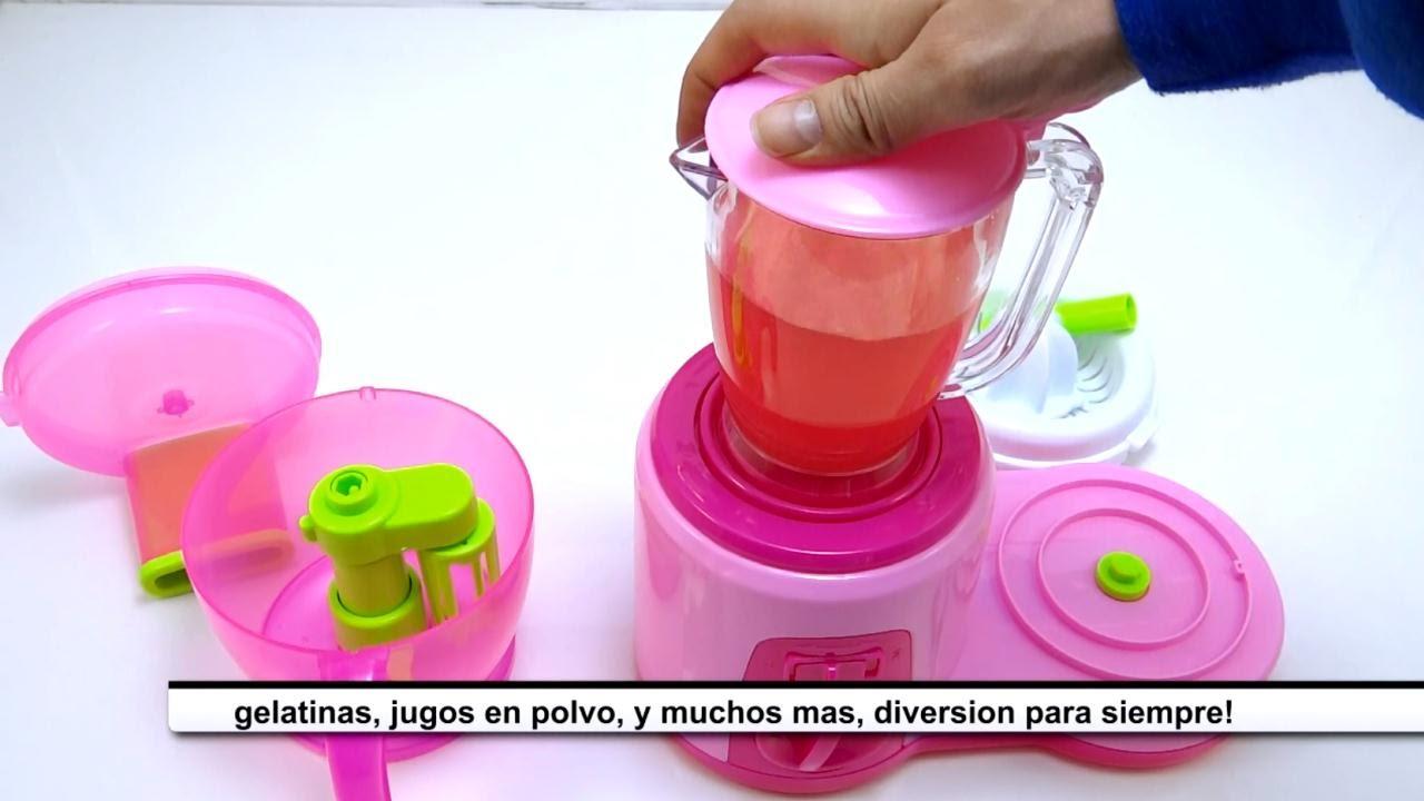set de jugos juguete nias licuadora batidora picatodo exprimidor funciona de verdad youtube