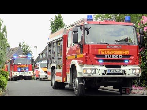 [GROSSEINSATZ | HAUS AUSGEBRANNT] - Vollalarm Feuerwehr Mettmann -