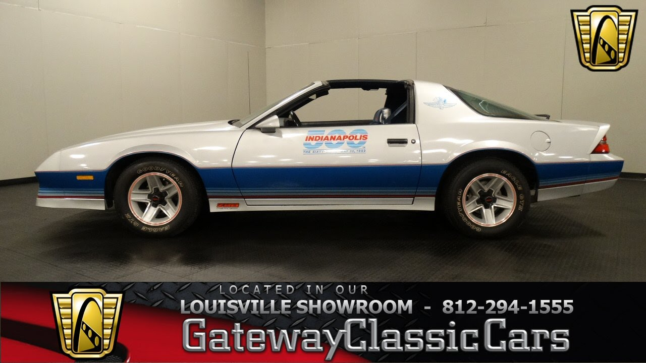 1982 chevrolet camaro indy pace car louisville showroom stock 1020 youtube. Black Bedroom Furniture Sets. Home Design Ideas