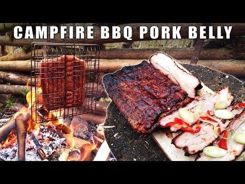 Camp Fire Cooking: BBQ Pork Belly