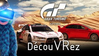 DécouVRez : Gran Turismo Sport (PSVR) GT | G29 | Subpac M2 | Route + Nascar + Rallye | VR Singe