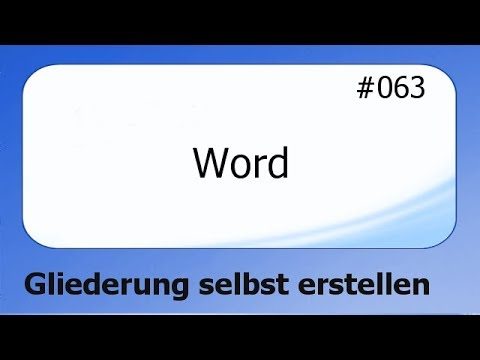 Word #063 Gliederung selbst erstellen [deutsch]