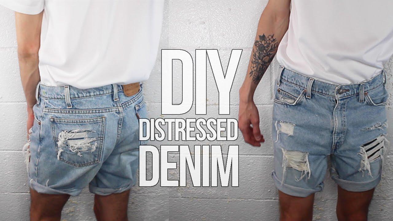 Distressed Denim For 3 Men S Fashion Youtube
