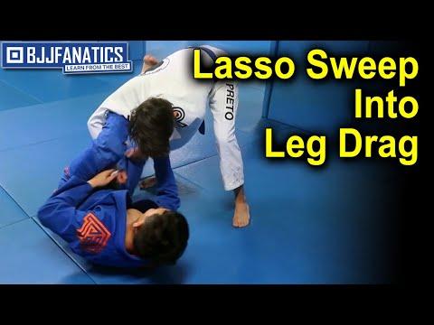 Lasso Sweep Into Leg Drag - BJJ Training
