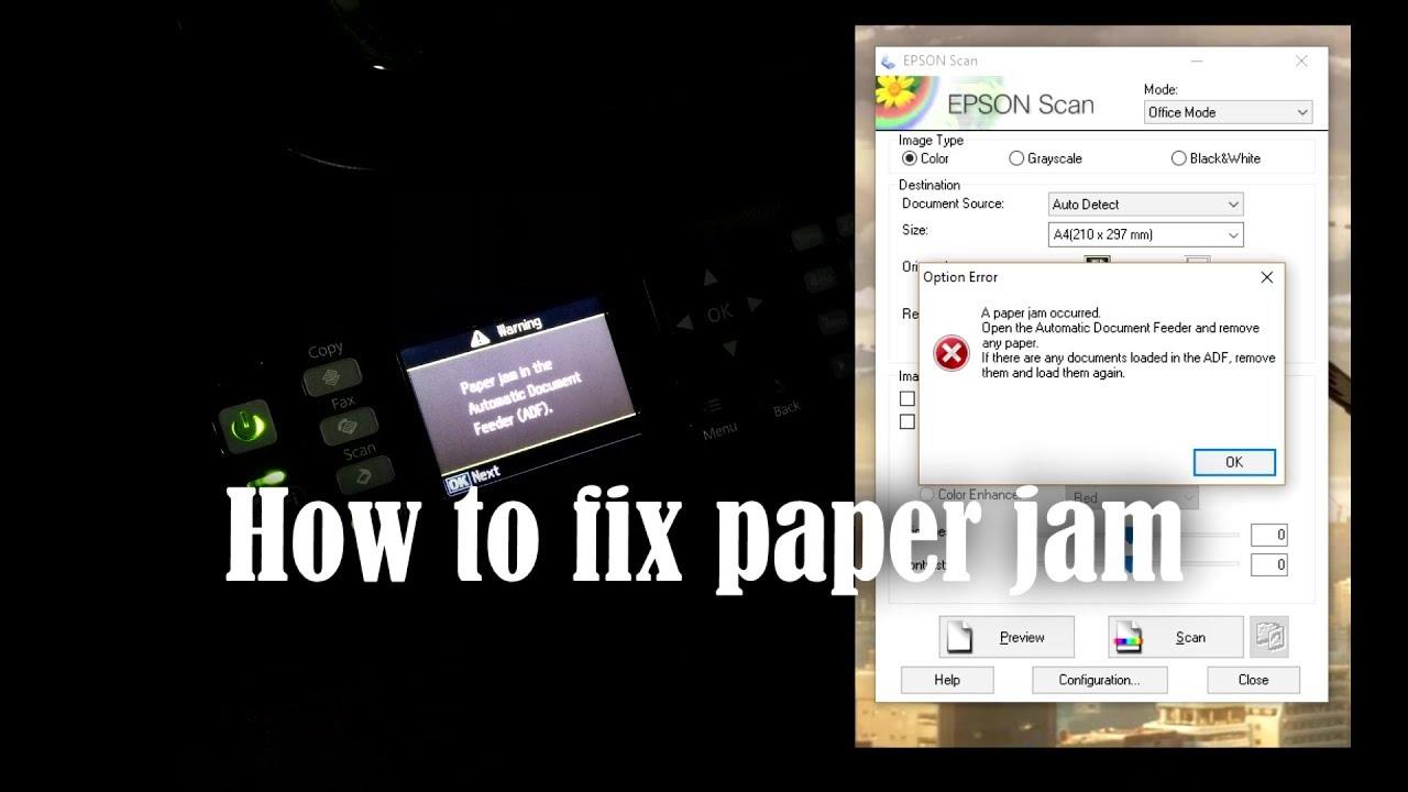 How to fix printer paper jam Epson WF2540