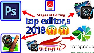 Top 10 professional photo editing apps for Android 2017, 2018/amazing photo editing apps for Android