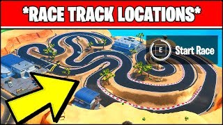 COMPLETE A LAP OF A RACE TRACK LOCATION (Fortnite Season 10 Week 8 Challenges)