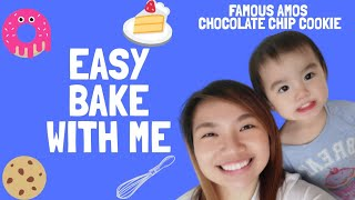 EASY BAKE WITH ME : Famous Amos Chocolate Chip Cookies (Testing Out The Recipe That Went Viral)