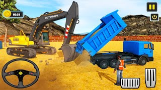 Offroad Heavy Excavator Dump Truck - Construction Simulator 2021 -  Android Gameplay