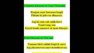 ramkrishna das sings khayaals-raag bhupali malhaar-raajan aaye barasan laagi, paanan biri sakhi begi