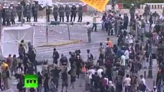 Athens Riot Madness Video Of Explosions Tear Gas In Greece