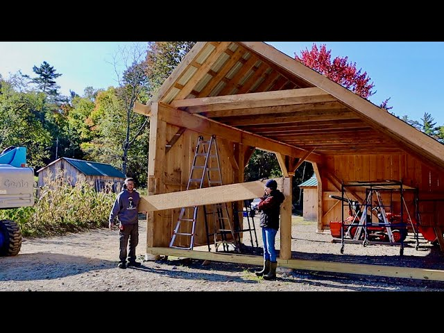 We Had to TEAR it All DOWN!?! Husband & Wife Build Post & Beam Barn Bought Off the Internet #24