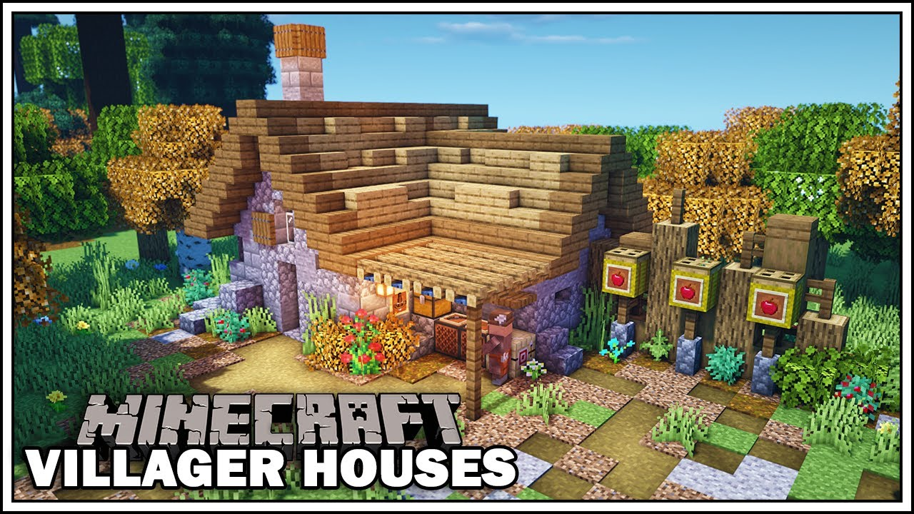 Minecraft Villager Houses - THE FLETCHER - [Minecraft Tutorial]
