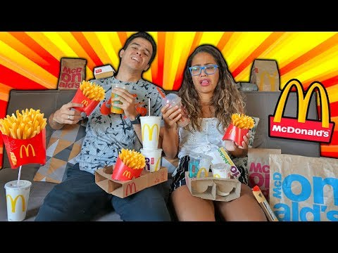 24 HORAS COMENDO NO MC DONALDS! - KIDS FUN