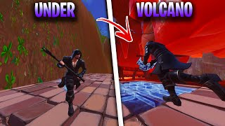 *NEW* INSANE UNDER VOLCANO GLITCH IN FORTNITE SEASON 8 - FORTNITE UNDER MAP GLITCHES